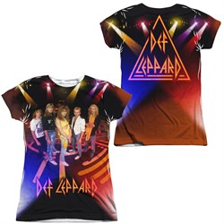 Def Leppard On Stage Sublimation Juniors Shirt Front/Back Print