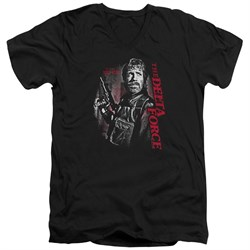 Delta Force Slim Fit V-Neck Shirt Black Ops Black T-Shirt