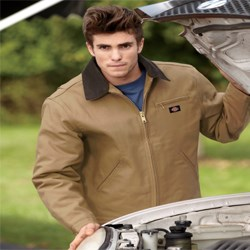Image of Dickies Work Jacket Adult Blanket Lined Duck Outerwear
