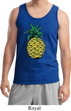 Distressed Pineapple Mens Tank Top