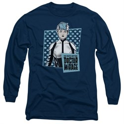 Image of Doctor Mirage Long Sleeve Shirt Good Doctor Navy Tee T-Shirt