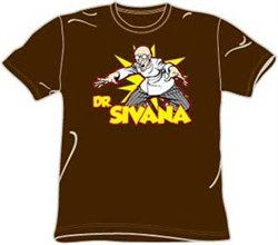Dr. Sivana T-shirt - Archenemy DC Comics Adult Brown Tee