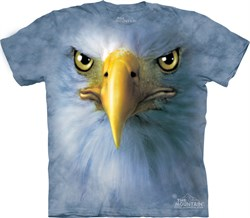 Image of Eagle Shirt Tie Dye Bird Face T-shirt Adult Tee