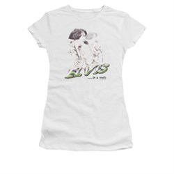 Elvis Presley Shirt Juniors Is A Verb White T-Shirt