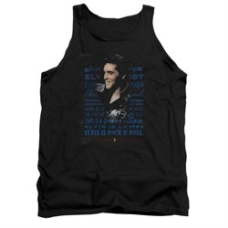 Elvis Presley Shirt Tank Top Icon Black Tanktop