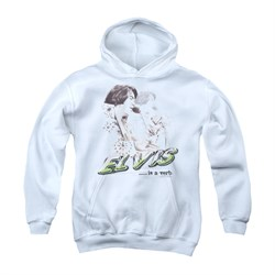 Elvis Presley Youth Hoodie Is A Verb White Kids Hoody