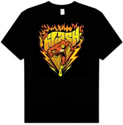 The Flash T-shirt - Blazing Speed DC Comics Adult Black Tee