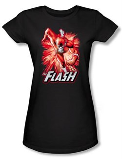 Justice League Juniors T-shirt The Flash Red and Gray Black Tee Shirt