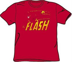The Flash T-shirt - Speed Distressed DC Comics Adult Red Tee