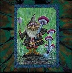 Image of Forest Gnome Mystical New Age Adult Unisex Tie Dye T-shirt Tee Shirt