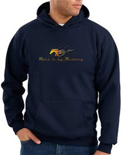 Product Image of Ford Mustang Hoodie Sweatshirt - Make It My Mustang Grill Navy Hoody
