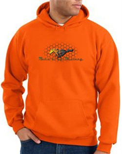 Product Image of Ford Mustang Hoodie Sweatshirt - Make It My Mustang Grill Orange Hoody