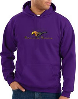 Product Image of Ford Mustang Hoodie Sweatshirt - Make It My Mustang Grill Purple Hoody