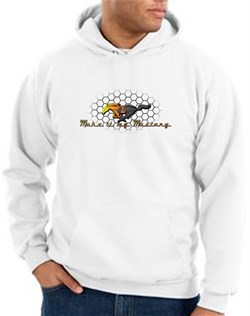Product Image of Ford Mustang Hoodie Sweatshirt - Make It My Mustang Grill White Hoody