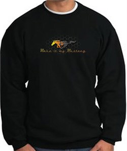 Product Image of Ford Mustang Sweatshirt - Make It My Mustang Grill Black Sweat Shirt