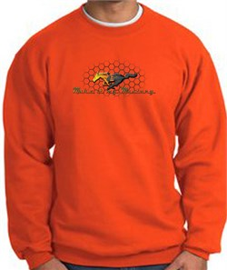 Product Image of Ford Mustang Sweatshirt - Make It My Mustang Grill Orange Sweat Shirt