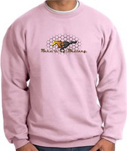Product Image of Ford Mustang Sweatshirt - Make It My Mustang Grill Pink Sweat Shirt