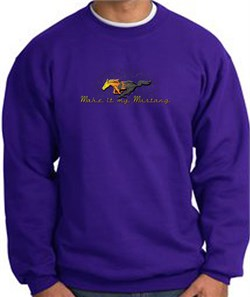 Product Image of Ford Mustang Sweatshirt - Make It My Mustang Grill Purple Sweat Shirt