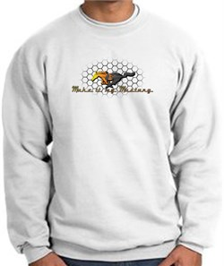 Product Image of Ford Mustang Sweatshirt - Make It My Mustang Grill White Sweat Shirt