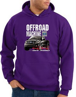 Image of Ford Truck Hoodie F-150 4X4 Offroad Machine Purple Hoody
