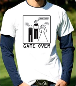 Game Over Marriage Ceremony Long Sleeve Shirt-in-Shirt
