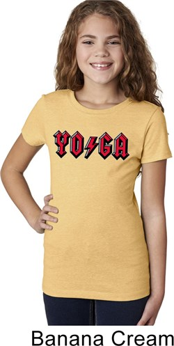 Girls Yoga Shirt Classic Rock Yoga Tee T-Shirt