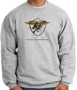 U.S. Navy Seal Sweatshirt Devgru Sweatshirt Athletic Heather