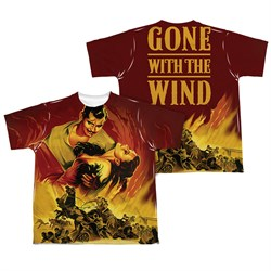 Gone With The Wind Fire Poster Sublimation Kids Shirt Front/Back Print