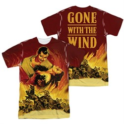 Gone With The Wind Fire Poster Sublimation Shirt Front/Back Print