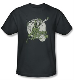 Green Arrow Kids T-shirt Right On Target DC Comics Youth Charcoal Tee