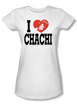 Happy Days Juniors T-shirt I Love Chachi Girly White Tee