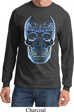 Halloween Glass Skull Long Sleeve Shirt