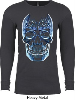 Halloween Glass Skull Long Sleeve Thermal Shirt