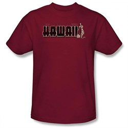 hawaii-shirt-i-swam-to-hawaii-maroon-tee-t-shirt