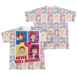 Image of I Love Lucy All Over Panels Sublimation Kids Shirt Front/Back Print