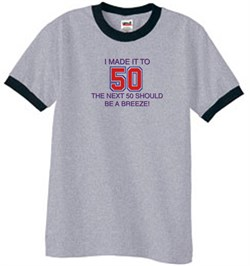 Image of 50th Birthday Shirt I Made It To 50 Ringer Shirt Heather Grey/Black