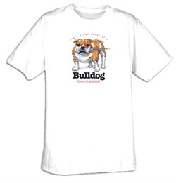 Product Image of Bulldog T-shirt I'm a Proud Owner of a Bulldog Loves to go Postal Tee