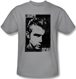 James Dean T-shirt Graphic Adult Silver Tee Shirt