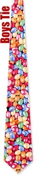 Jellybeans Black Microfiber Tie Necktie - Boy?s Food Drink Neck Tie