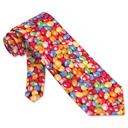 Jellybeans Multicolor Microfiber Tie Necktie Men?s Food Drink Neck Tie