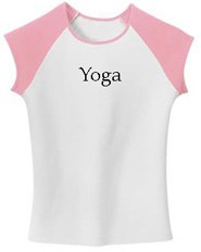 Image of Juniors Yoga T-shirt ? Yoga Meditation Raglan Cap Tee Shirt