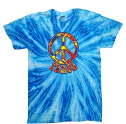 Kids Peace Tie Dye Shirt Funky Peace Blueberry Twist Youth Tie Dye