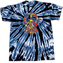 Kids Peace Tie Dye Shirt Funky Peace Navy Twist Youth Tie Dye