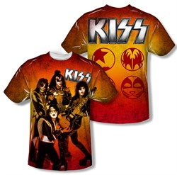 Image of Kiss Shirt Kids Fire Pose Sublimation T-Shirt Front/Back Print
