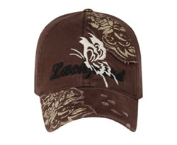 butterfly-distressed-style-hat-lackpard-cap-dark-brown