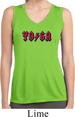 Image of Ladies Classic Rock Yoga Sleeveless Moisture Wicking Tee