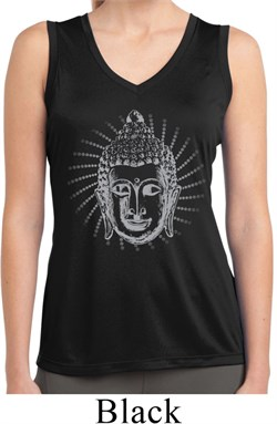 Ladies Iconic Buddha Sleeveless Moisture Wicking Tee