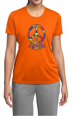 Ladies Peace Shirt Funky Peace Moisture Wicking Tee T-Shirt
