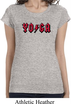 Image of Ladies Shirt Classic Rock Yoga Longer Length Tee T-Shirt