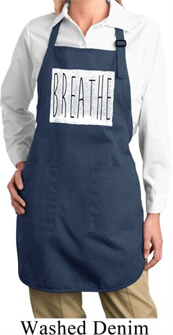 Image of Ladies Yoga Apron Breathe Full Length Apron with Pockets